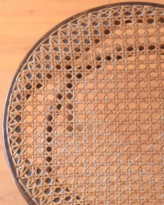 x-483-c  アンティークベントウッドチェアの座面ズーム