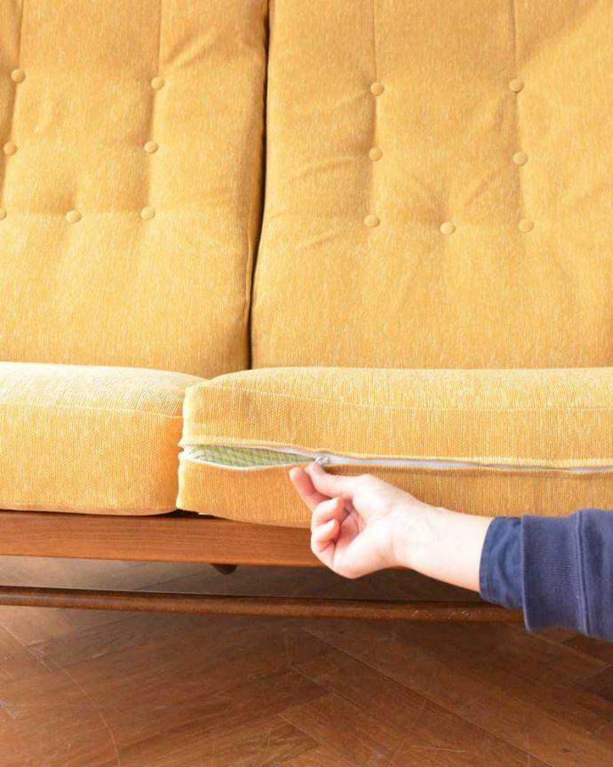 アーコールの家具 アンティーク チェア 高い背もたれでゆっくりくつろげる・・・アーコールの2人掛けソファ。取り外し出来ますカバーは全てチャックで取り外せるカバーリング仕様になっています。(x-487-c)