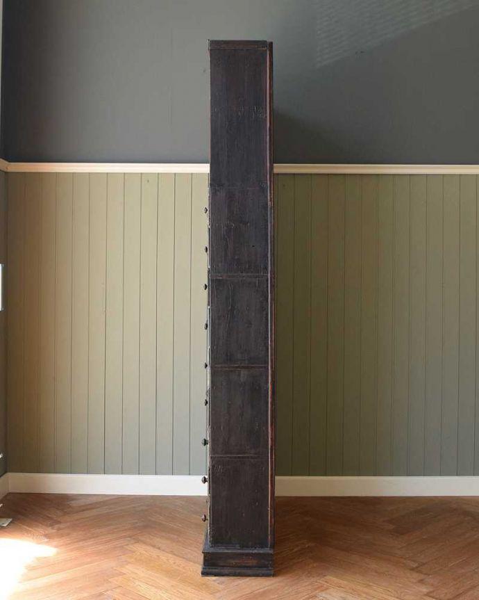 x-516-f アンティークオープンシェルフの横