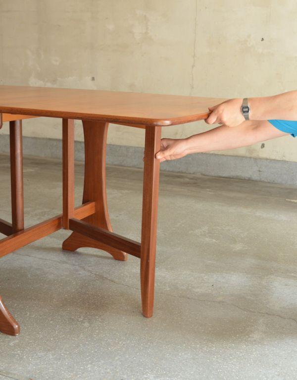 x-662-f ヴィンテージドロップリーフテーブルの組み立て