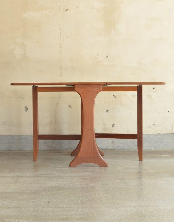 x-662-f ヴィンテージドロップリーフテーブルの前01