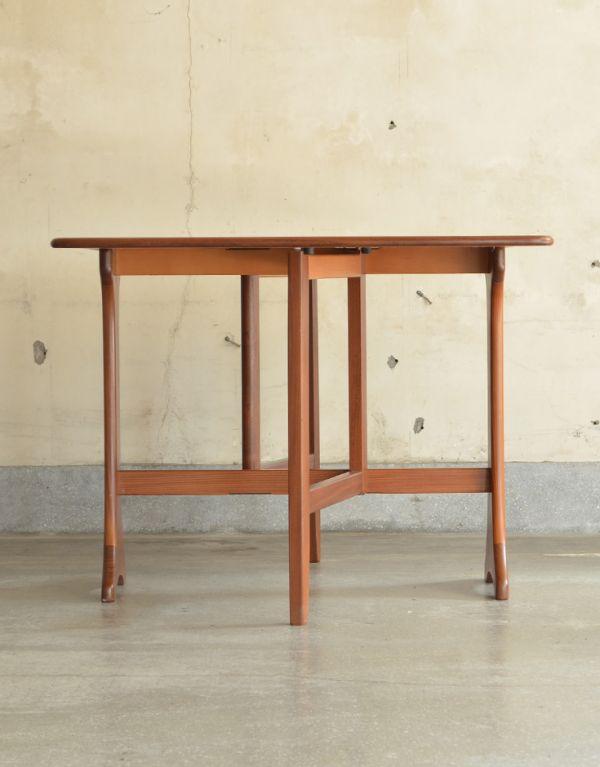 x-662-f ヴィンテージドロップリーフテーブルの横01