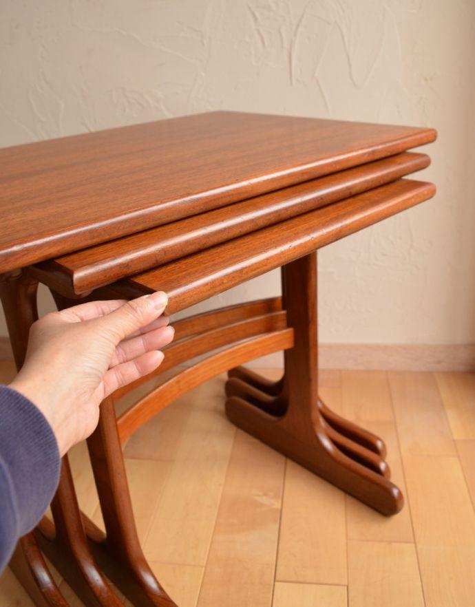 x-753-f ビンテージネストテーブル(G-plan)の収納