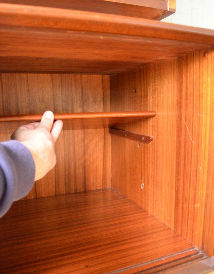 x-763-f イギリス チーク ディバイダーの引き戸の棚板