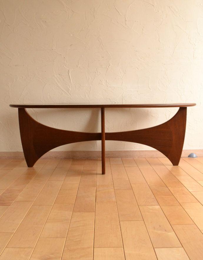 x-766-f アンティークコーヒーテーブルの後ろ