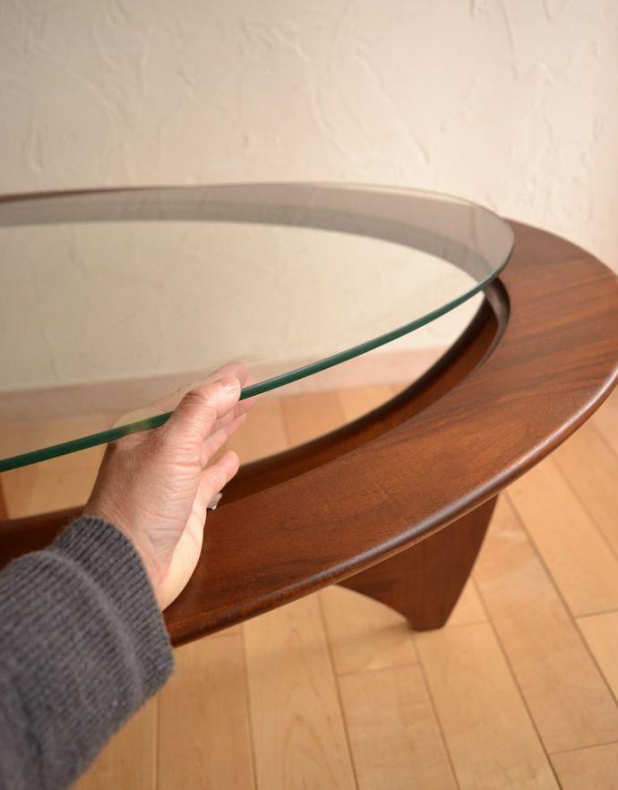 x-766-f アンティークコーヒーテーブルのガラス