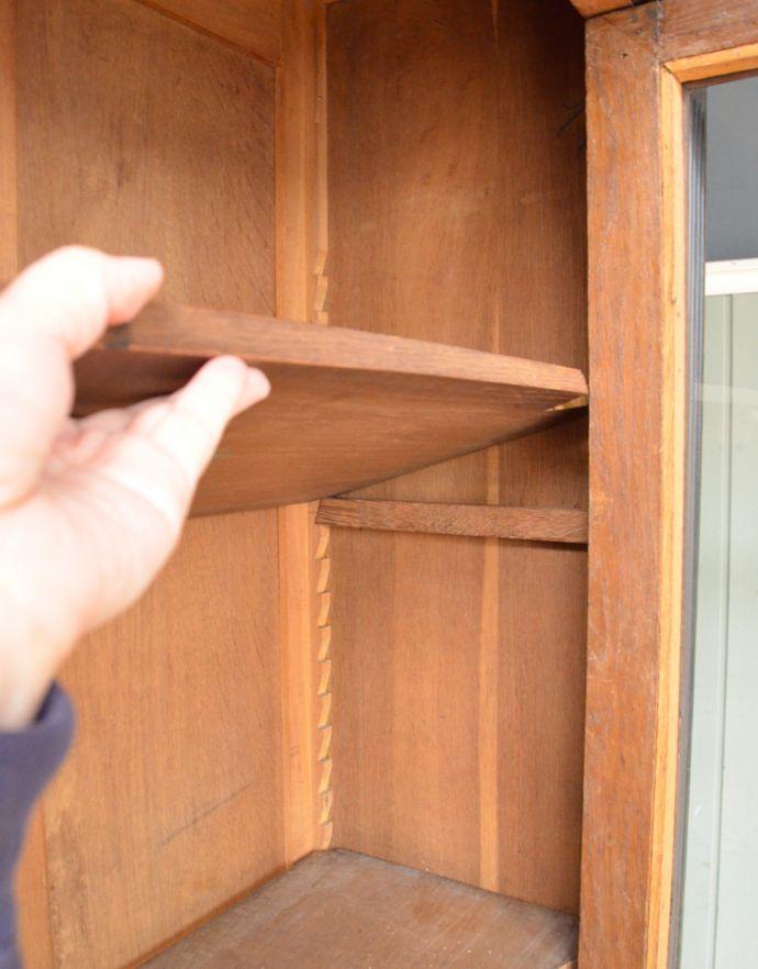 x-823-f アンティークガラスキャビネットの棚板