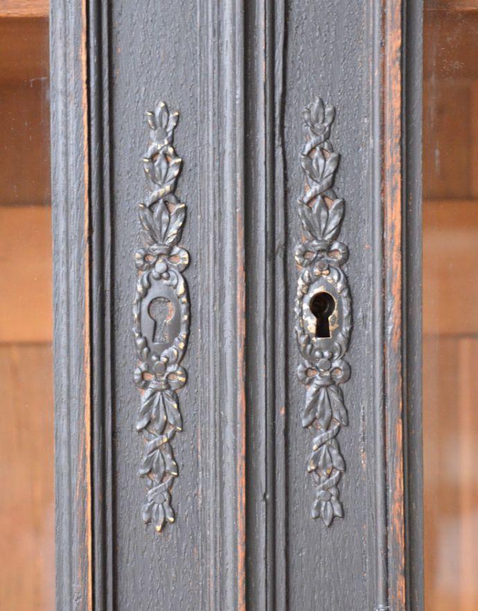 x-823-f アンティークガラスキャビネットの鍵穴