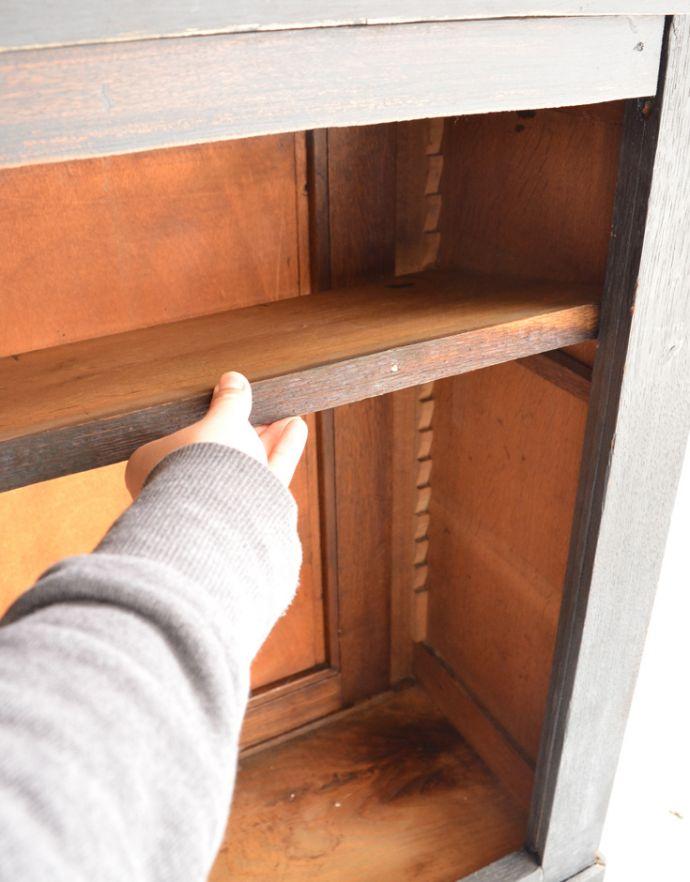 x-824-f アンティークカウンター(ブラックペイント)の棚板