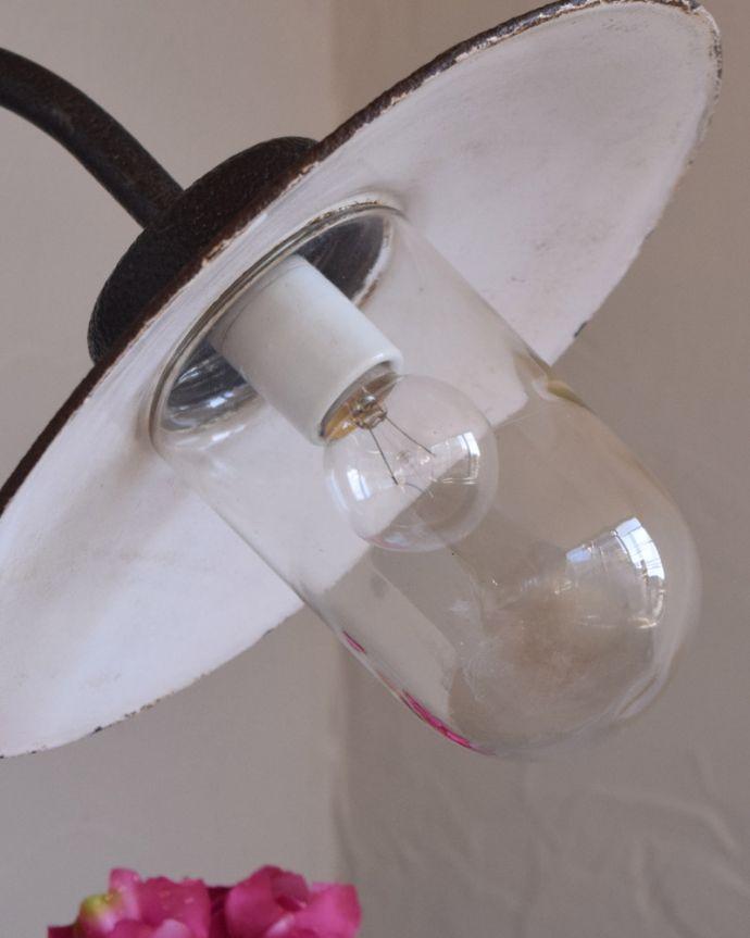 x-834-z アンティークポーチライト・ダークグリーン(外灯)のガラスシェード