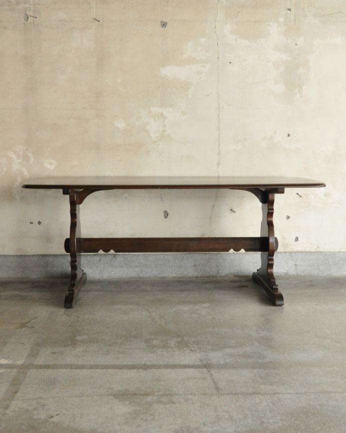 x-837-f アンティークアーコールダイニングテーブルの後ろ