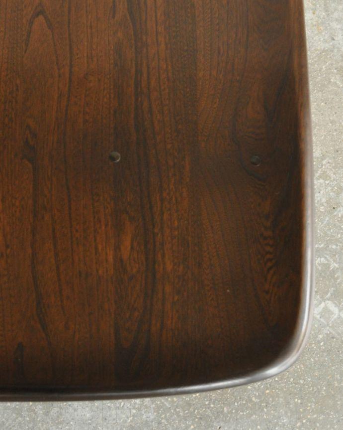 x-837-f アンティークアーコールダイニングテーブルの角
