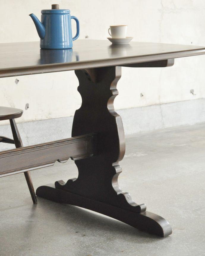 x-837-f アンティークアーコールダイニングテーブルの脚