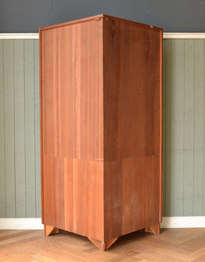 x-844-f アンティークコーナーキャビネットの後ろ
