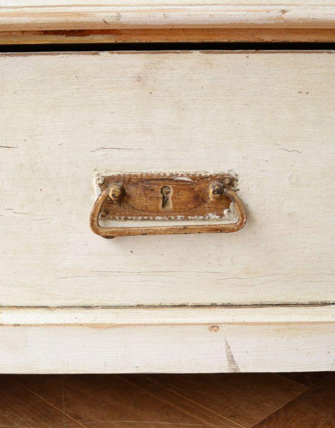 アンティークのキャビネット アンティーク家具 ペイント仕上げのアンティーク家具、フランスのグリアージュキャビネット。引き出しの取っ手鍵は使用できません。(x-851-f)