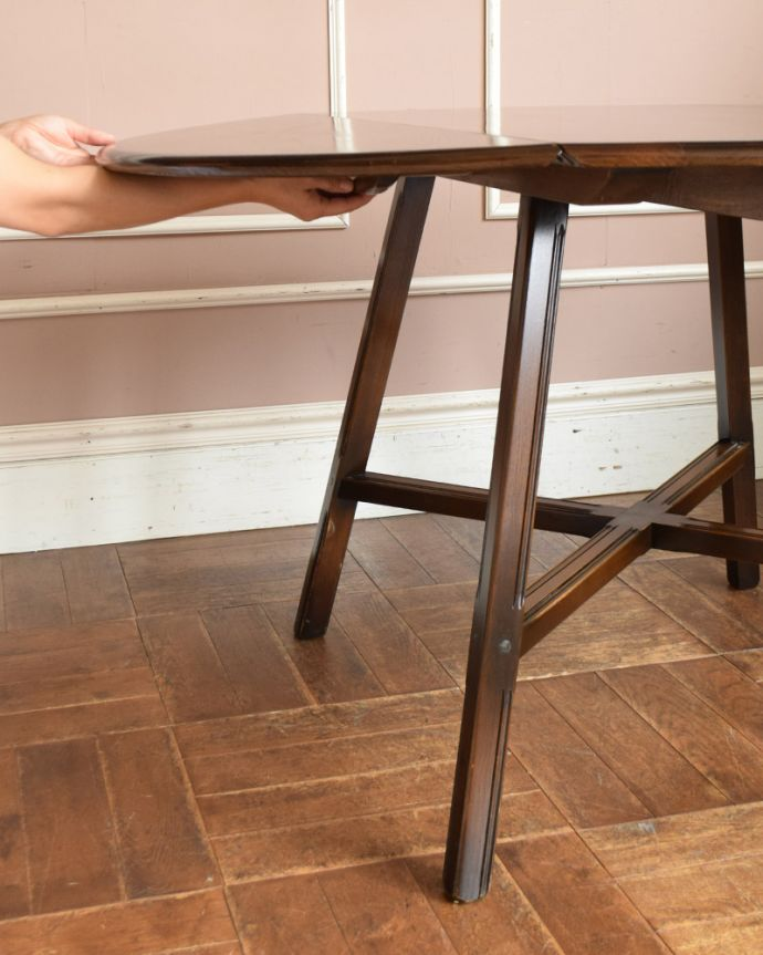 x-898-f アンティークアーコールドローリーフテーブルの組み立て