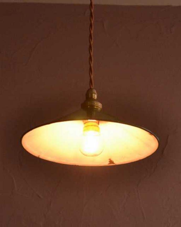 ペンダントライト 照明・ライティング フランスから届いたアンティークのペンダントライト(コード・シャンデリア球・ギャラリーなし)。。(x-912-z)