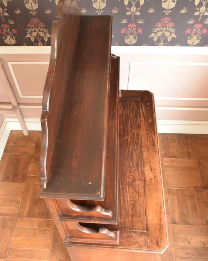 x-946-f アンティークキッチンキャビネット(カップボード)の天板