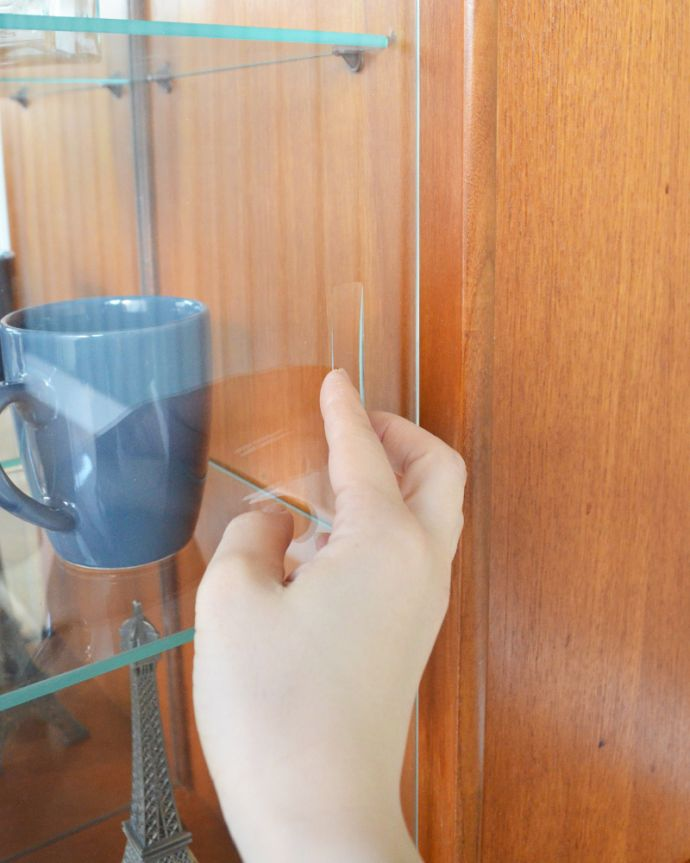 x-947-f アンティーク イギリス チーク キャビネットのガラス戸の取っ手
