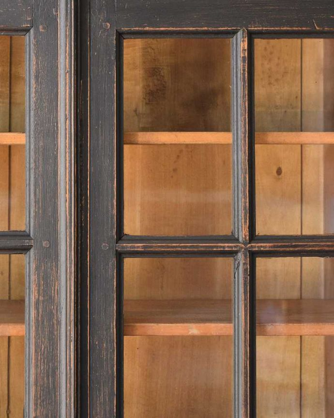 x-983-f アンティークガラスキャビネットの装飾