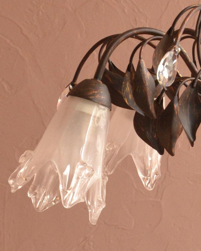 シャンデリア 照明・ライティング アンティーク風のシェード付きシャンデリア(5灯)(E17電球付)。。(cr-503)