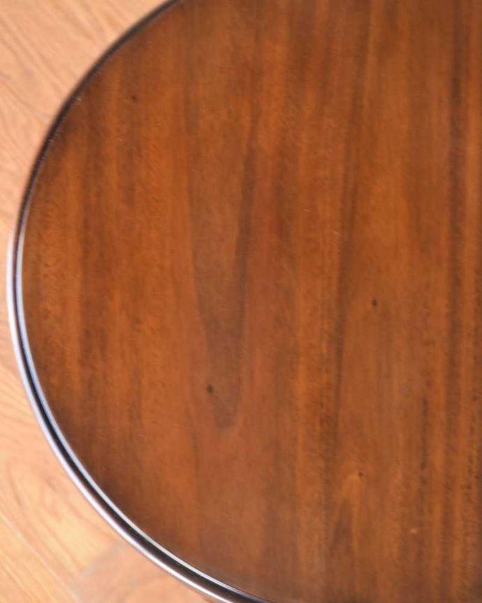 y-112-f アンティークオケージョナルテーブルの天板ズーム