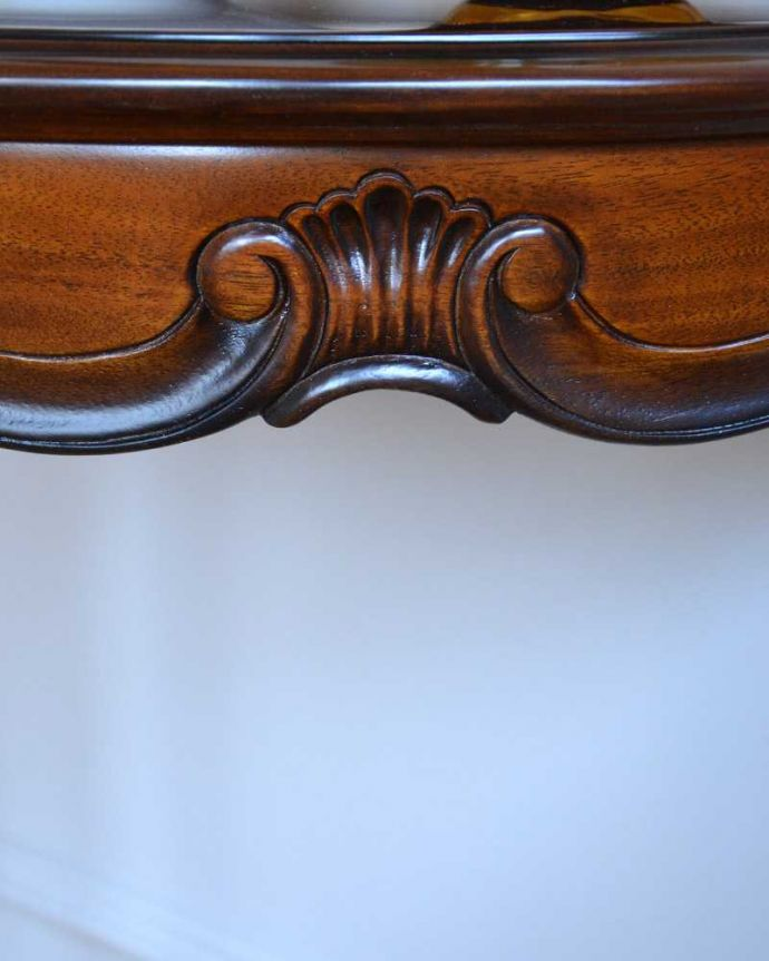 y-114-f アンティーク風コンソールテーブルの彫り1