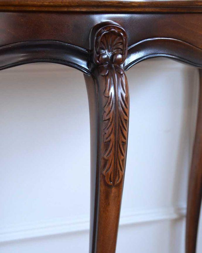 y-114-f アンティーク風コンソールテーブルの彫り2