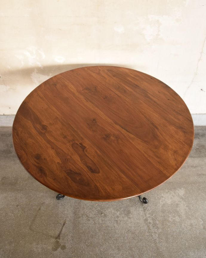 y-196-f アンティーク風ラウンドテーブルの天板