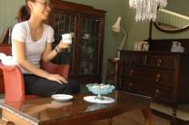 オークの家具にロイドルームを合わせた、リビングをスタイリングしてみました。