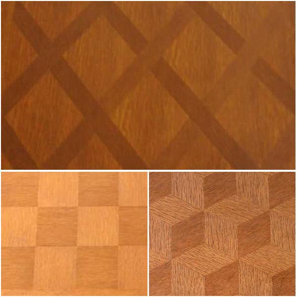フレンチエレガントスタイルの伸び縮みするテーブルの代表的な天板の模様