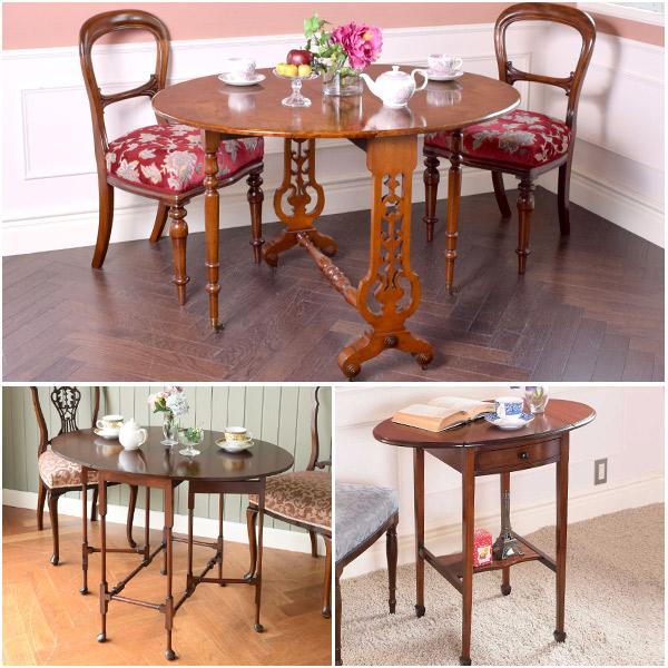 英国クラシックスタイルの代表的な伸び縮みするテーブル