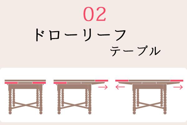 02ドローリーフテーブルとは