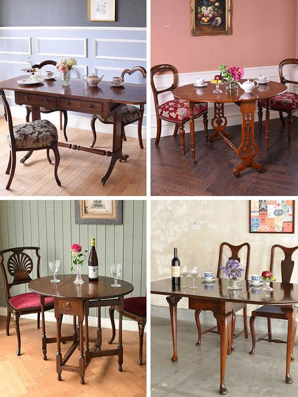 英国クラシックスタイルのダイニングテーブル