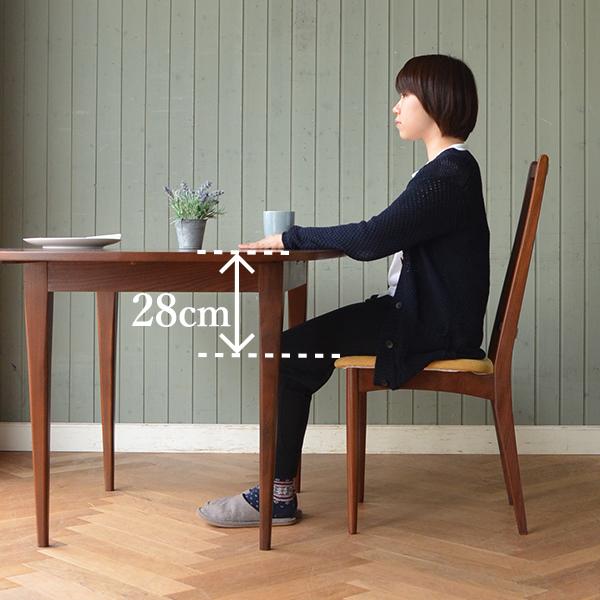 ダイニングテーブルと椅子の差尺が28㎝で適切な場合