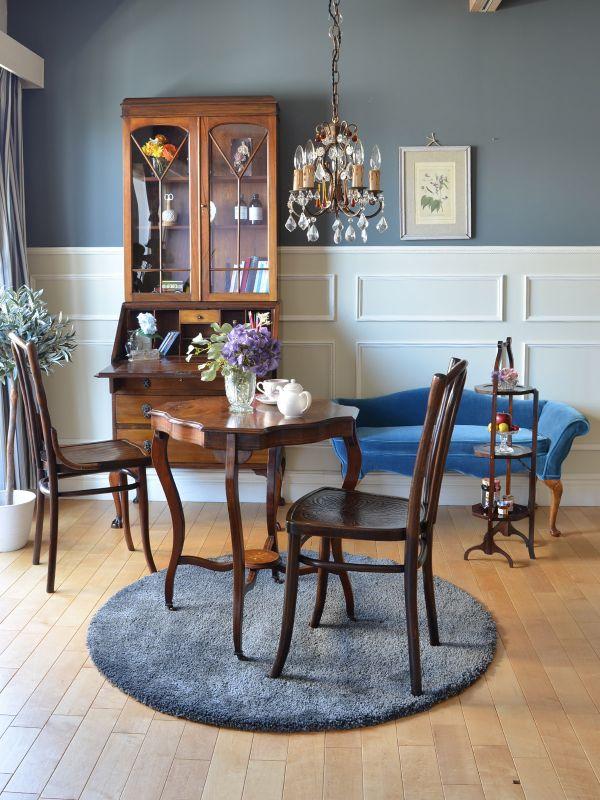 英国アンティーク家具、ビューローブックケース、ヴィクトリア&アルバート博物館