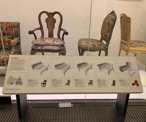 イギリスさんぽ、ヴィクトリア&アルバート博物館、椅子