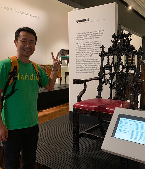 ヴィクトリア&アルバート博物館、椅子の彫刻