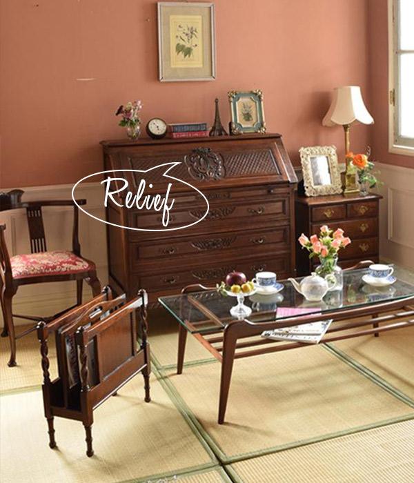 トライポッドのコーヒーテーブルを使った和室
