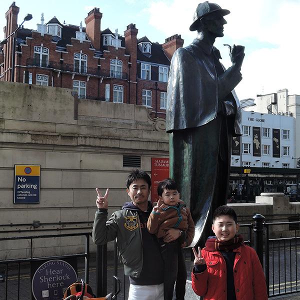 シャーロック・ホームズ、シャーロックホームズの銅像