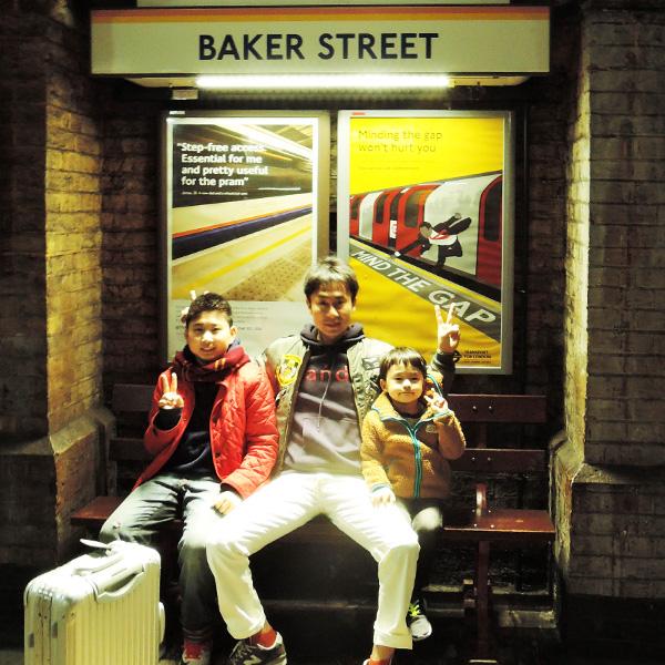 イギリス、ベイカーストリート(Baker street)駅
