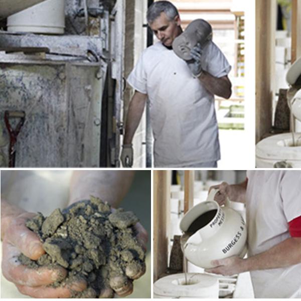 バーレイ社の陶磁器、土