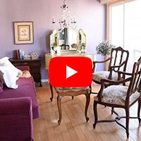 フランスの家具を並べて作る 猫が眠る猫脚リビング