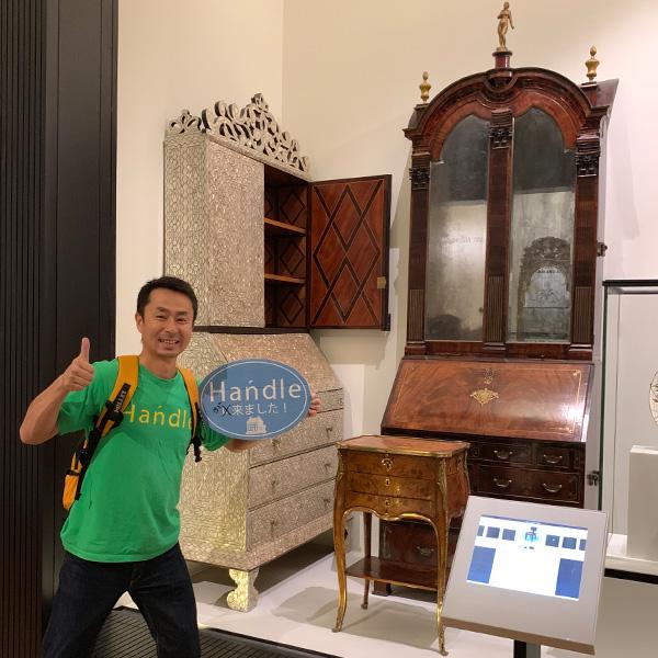 ヴィクトリア&アルバート博物館、マザーオブパール、ビューローブックケース