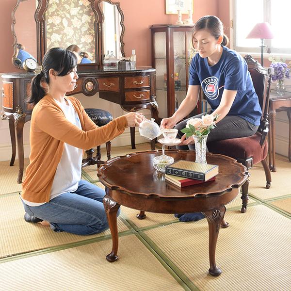 和室の畳の上え使うローテーブル