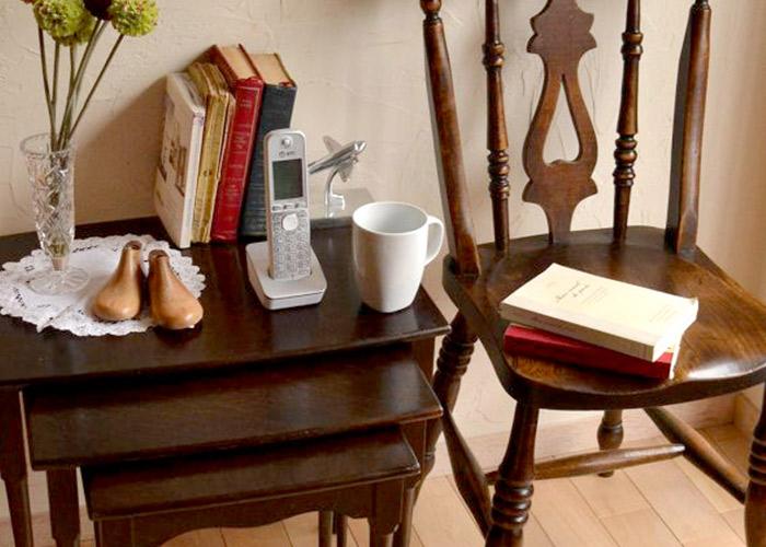 収納家具として使うサイドテーブル