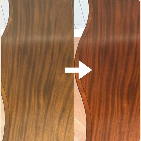 マホガニー材の特徴2深みを増す木目