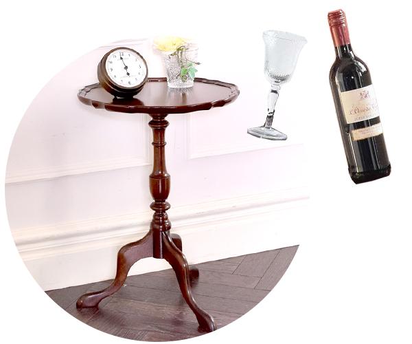 ワインを飲むときに使われたローテーブル「ワインテーブル」
