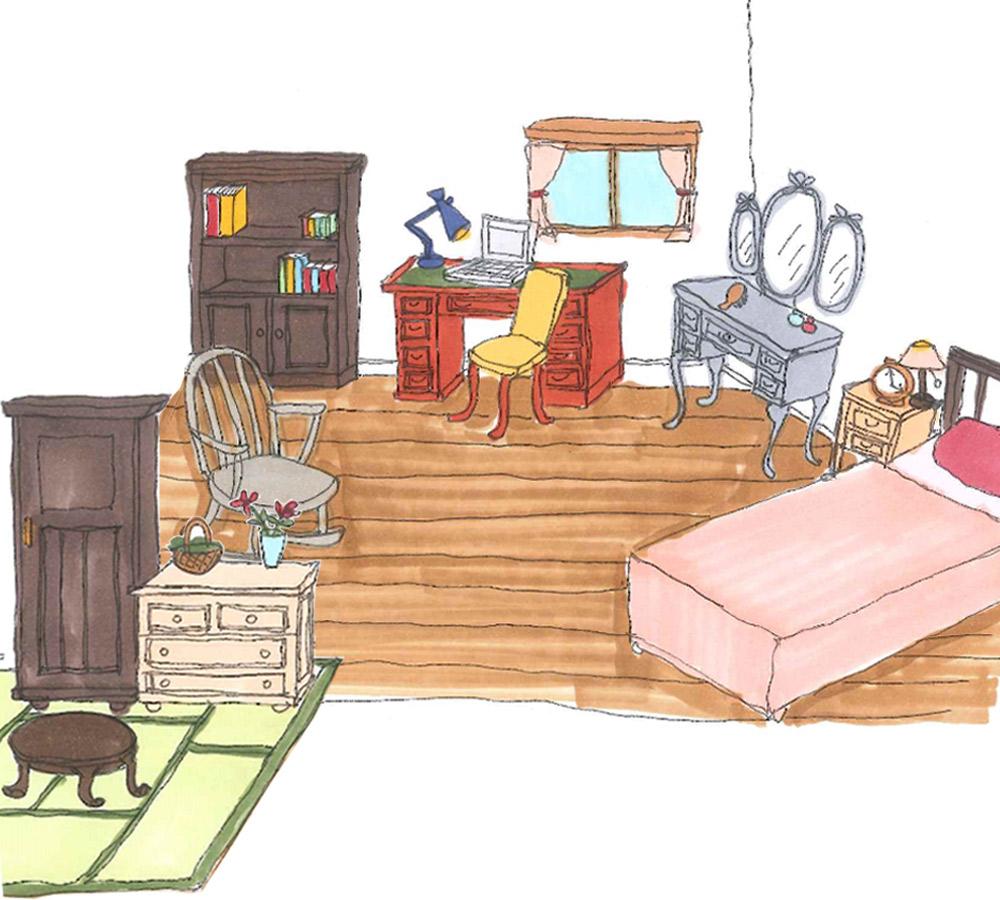 書斎・寝室・和室で使われているテーブル