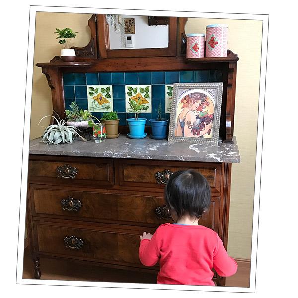 アンティーク家具 ウォッシュスタンド 兵庫県Tさまから届いたウォッシュスタンドの写真